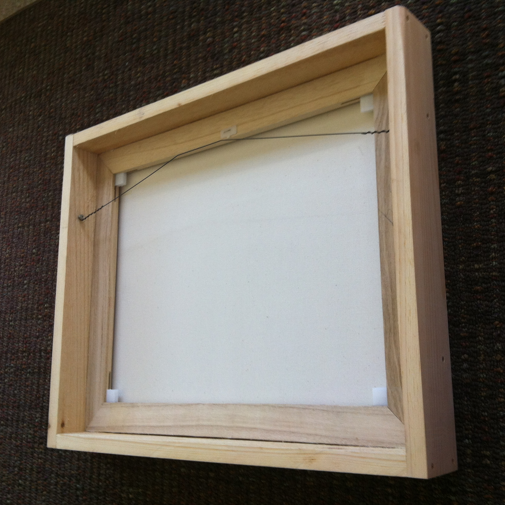 custom made diy wine cork frame we created a do it yourself wall out of recycled maple wood this gorgeous honey stained held 8 5 x 11